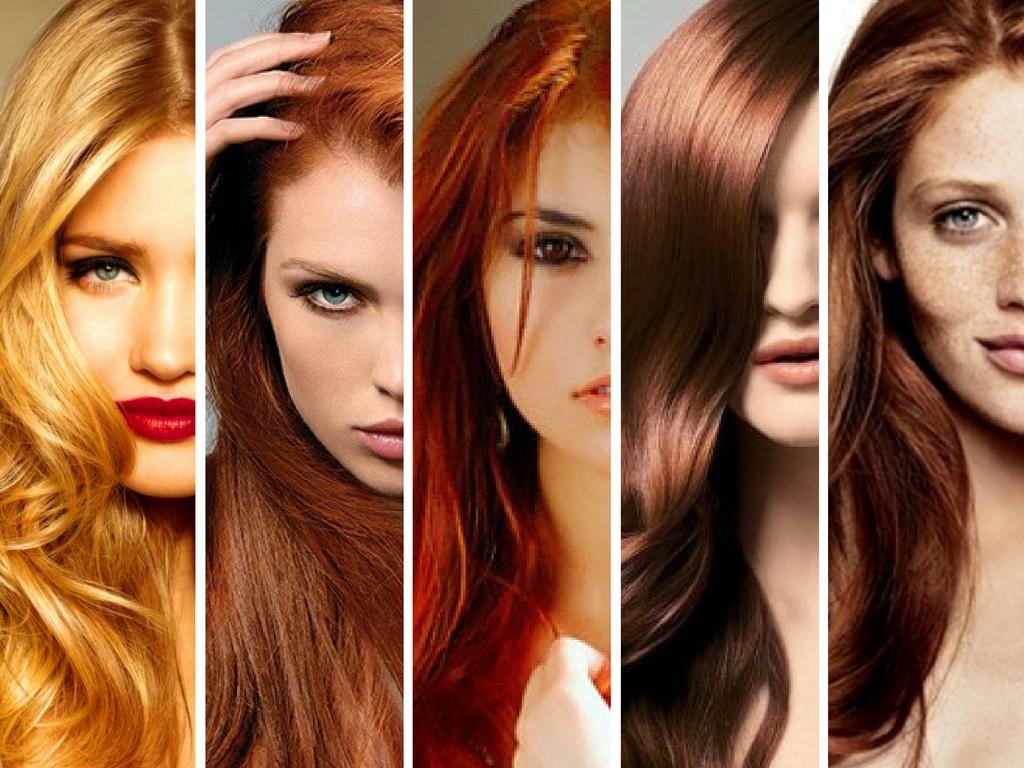 Рижие цвета волос