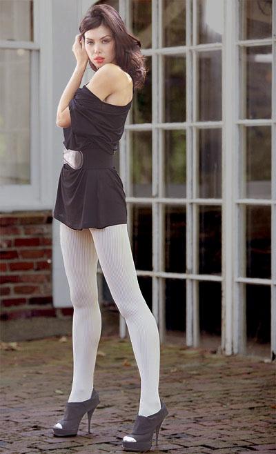 Фото девушек в плотных белых колготках фото 369-661